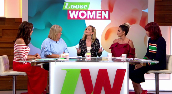 Sarah appears on Loose Women 05/09/17