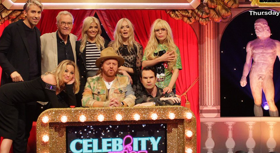 Sarah Harding appears on Celebrity Juice
