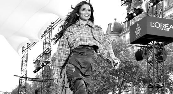 Cheryl models at the L'Oreal Paris catwalk show